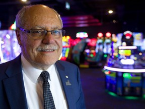 Ellis Jacob, the CEO of Cineplex, toured their new Rec Room at Masonville Place in London, Ont.  on Wednesday, May 9, 2018.  (MIKE HENSEN, The London Free Press)