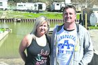 Sam Edwards, left, and her husband Greg Edwards own the North Erie Marina in Port Bruce. They are worried about a plan for a temporary bridge to be built at the end of Bank Street, one they say will scuttle their business. (Louis Pin/Times-Journal)