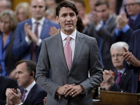 Prime Minister Justin Trudeau rises during Question Period in the House of Commons on Parliament Hill in Ottawa on Tuesday, June 12, 2018.