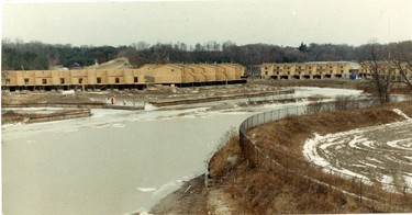 Condos being built at the Port Stanley Marina, 1989. (London Free Press files)
