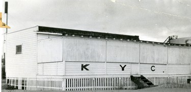 The Clubhouse of the Kanagio Yacht Club, 1954.  (London Free Press files)