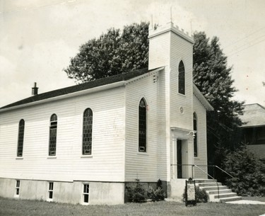 At the bend of Kettle Creek, Port Stanley stands the village's oldest church which marked it's 106th anniversary in 1951.  (London Free Press files)