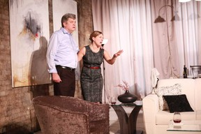 Jeff Culbert stars as Michael and Niki Landau is Darah in Troubadour Theatre Collective's production of Ann Chatterton's play Within the Glass, on stage at UnLondon, 211 King St. until Sunday.