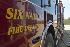 A Six Nations pumper truck operates at the department's training facility on Wednesday September 20, 2017 on the Six Nations reserve near Brantford, Ontario. Brian Thompson/Brantford Expositor/Postmedia Network