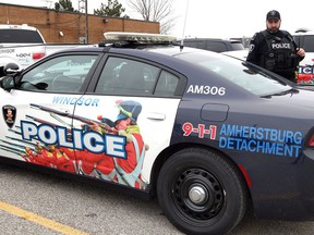 In this Jan. 2, 2019, 'Amherstburg Detachment' has replaced the 'Amherstburg Police' logo on this Dodge Charger police cruiser in Amherstburg.