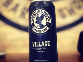 Whistling Dick's barbershop now has its own beer, Village Cream Ale, to enjoy while awaiting a trim.