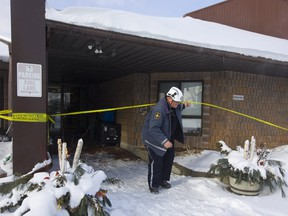 Clive Hubbard, a fire investigator with the office of the Fire Marshal, was on the scene investigating a fire at the Caressant Care nursing home on Bonnie Place in St. Thomas on Sunday January 27, 2019. Mike Hensen/The London Free Press
