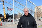 Allan Reid, president and chief executive of the Canadian Academy of Recording Arts and Sciences – the body that puts on the Juno Awards – is outside Budweiser Gardens Tuesday, March 12, 2019, where an outdoor tent is being constructed to hold a Junos side stage and the red carpet. (MEGAN STACEY/The London Free Press)