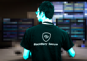 A BlackBerry employee works at the company's Network Operating Centre in Waterloo, Ont. The NOC is the control centre for all of BlackBerry's secure networks.
