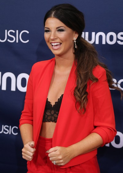 Jess Moskaluke  on the red carpet at the Juno Awards in London, Ont. on Sunday March 17, 2019. She's nominated for country album of the year. Mike Hensen/The London Free Press/Postmedia Network