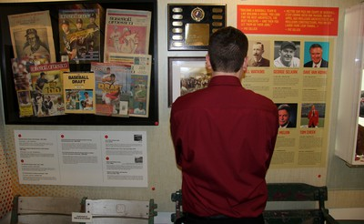 Canadian baseball history adorns the walls of the renovated hall of fame in St. Marys. (Cory Smith/Postmedia Network)