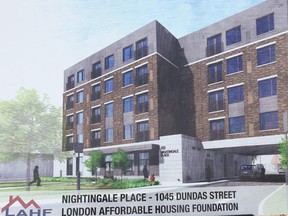 Rendering of $8-million affordable housing project at 1045 Dundas St.