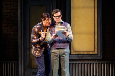 Dan Chameroy (left) as Skip Snip and André Morin as Seymour Krelborn in Little Shop of Horrors.