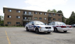 London Police cruisers were parked outside of 1825 Whitney St., where Suzan Aisha Jacob, 50, was stabbed to death on July 1, 2015. (File photo)
