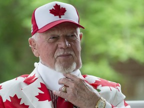 """Across four decades on Coach's Corner, Don Cherry made his feelings clear about what he believes constitutes a """"real"""" Canadian. (Postmedia file photo)"""