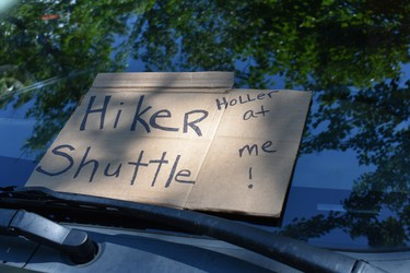 Drivers are often available to transport hikers from the trail to a nearby town to buy supplies, reach an in-town hostel or motel. IAN NEWTON/Special to Postmedia News Appalachian Trail 2019