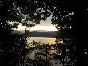 Tennessee's  Smoky Mountains are eyed just beyond Lake Fontana as a new day dawns on the Appalachian Trail.  IAN NEWTON/Special to Postmedia News Appalachian Trail 2019