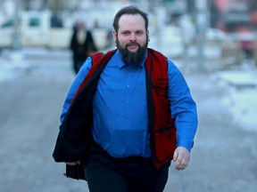 Joshua Boyle arrives for the verdict in his criminal trial at the Elgin Street courthouse on Thursday.