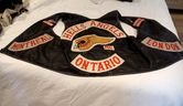 The OPP held a press conference on Thurday, Nov. 12, 2019, to announce the results from an investigation into an illegal gambling ring operated by alleged members of organized crime groups. Police also showcased evidence seized, including this Hells Angels vest, during the probe. (OPP supplied photo)