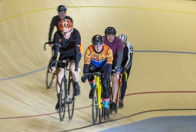 A group of cyclists enjoys a morning ride at the Forest City Velodrome in London on Sunday. Derek Ruttan/The London Free Press/Postmedia Network