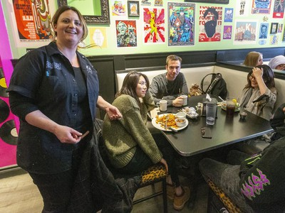 """We'll see how the week goes . . . but as long as the people stay coming in, we are going to need everybody on board."" - Kelly Churchill, manager at the Early Bird restaurant, about how its staffing might be affected (MIKE HENSEN, The London Free Press)"