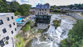 The historic Elora Mill, built in 1832, offers a virtual tour of its refurbished interior and picturesque grounds at eloramill.ca. (Supplied)
