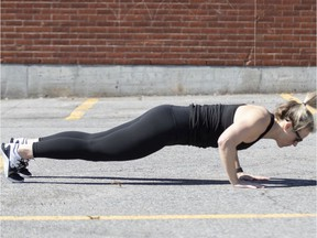 Chelsea Privée demonstrates a properly executed burpee.