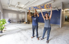 Heenal Rajani and Kara Riinen have raised nearly $39,000 to open a zero-waste, package-free grocery store. Their goal is to raise $50,000 to open Reimagine Co. on Piccadilly Street. (Mike Hensen/The London Free Press)