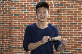 Ivey Business School student William Wang hopes the training, funding and mentorship he received from the Western Accelerator summer program will help him build his business making and selling his Ready, Set . . . Protein bars.(Derek Ruttan/The London Free Press)