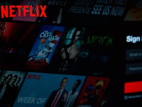 The Netflix logo is seen on a computer in this photo illustration in Washington, D.C., on July 10, 2019.