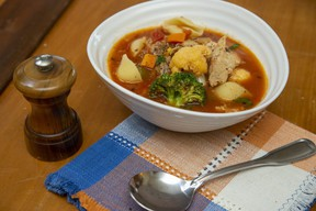 Chunky turkey and vegetable soup. (Derek Ruttan/The London Free Press)