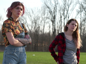 Ariel Shearer, left, as Kate and Taylor Meloche as Taylor performs in Gerald Williams' short film Kate and Taylor, one of a dozen short narrative and documentary films being screened Friday at the First Take Film Festival organized by students of Fanshawe College's advanced filmmaking program.
