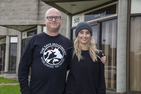 "James and Vasiliki McInnes, founders of London-based Globally Local, plan to ""revolutionize the fast-food industry"" with healthier, plant-based versions of burgers and milkshakes served in highly automated restaurants. (Derek Ruttan/The London Free Press)"