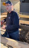 Covenant Construction co-owner Craig Hardy works on a renovation project for HGTV Canada's Farmhouse Facelift that will air Wednesday at 10 p.m. (Courtesy Covenant Construction photo)