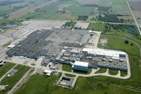 In this photo taken in 2009, looking west, with Highway 4 along the top of the frame, Ford's St. Thomas Assembly plant near Talbotville is shown. (Mike Hensen, The London Free Press)