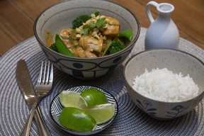 This fast and easy chicken curry gets a flavour kick from red Thai curry paste, Jill Wilcox says. (Derek Ruttan/The London Free Press)