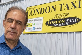 """Hassan Savehilaghi, president of Yellow London Taxi, said one his drivers talked with the driver of a pickup truck before he was arrested Sunday night in the parking lot of Cherryhill mall following a crash that killed four members of a London family. """"When they got him out of the vehicle, he was laughing,"""" Savehilaghi said the taxi driver told him. (Mike Hensen/The London Free Press)"""