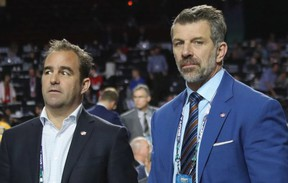 Montreal Canadiens owner Geoff Molson, left, and general manager Marc Bergevin (Montreal Gazette)