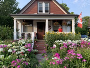 Jennifer Maddeford's flower-rich front garden is a showstopper on Adelaide Street in Mount Brydges. (Barbara Taylor/The London Free Press)