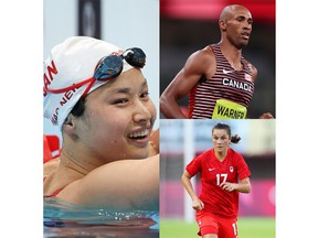 Of the six gold medals Canada has won at the 2020 Tokyo Olympics, Londoners have won two outright - Damian Warner in the decathlon and Maggie Mac Neil in the 100-metre butterfly - and been part of teams that won two: Susanne Grainger in women's eight rowing and Jessie Fleming in women's soccer. (Getty Images)