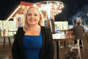 Conservative candidate Lianne Rood poses at Widder Station Golf Grill and Tap House in Thedford. Rood was projected to win the Lambton-Kent-Middlesex, but results weren't available by press time. (Tyler Kula/Postmedia Network)