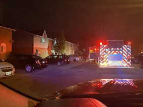 Firefighters responded Monday night to a house fire in west London that caused $50,000 in damages. No injuries were reported. (London Fire Department)