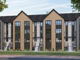 Foxwood Developments proposes to build 26 stacked townhomes in two buildings at 584 Commissioners Rd. W., one two storeys, the other 3½ storeys.