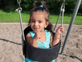 A toddler named Inayah has been identified as the child killed in a balcony fall near Old East Village on Oct. 2, 2021. GoFundMe