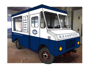 The Meatball Montreal truck design.  (Image by René-Charles Arsenault)