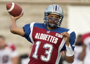 Despite re-injuring his right thumb, Anthony Calvillo said he'll practice on Thursday. Paul Chiasson/Canadian Press