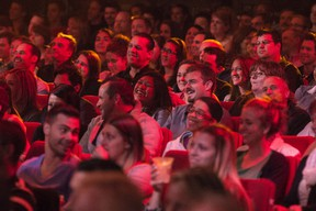 Audience at the Dane Cook Just for Laughs gala July 24, 2013.