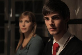 Eleanor Wyld and Daniel Fraser in the film OXV: The Manual, which is being shown at the Fantasia Film Festival. (Image from the Facebook page of OXV: The Manual)