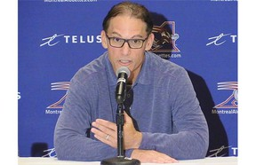 Former Alouettes coach Marc Trestman will address the halftime crowd at Molson Stadium during the Friday night game between Montreal and Winnipeg.