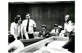 The Parole Board of Canada turned down Gilles Pimparé, shown at left in 1979, for release following a hearing held at the La Macaza Institution.